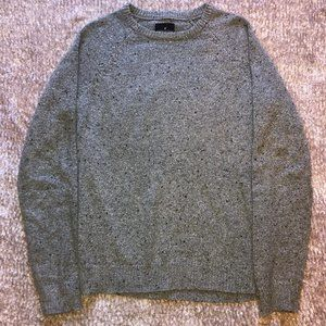 American Eagle Marled Grey Pullover Crew Sweater